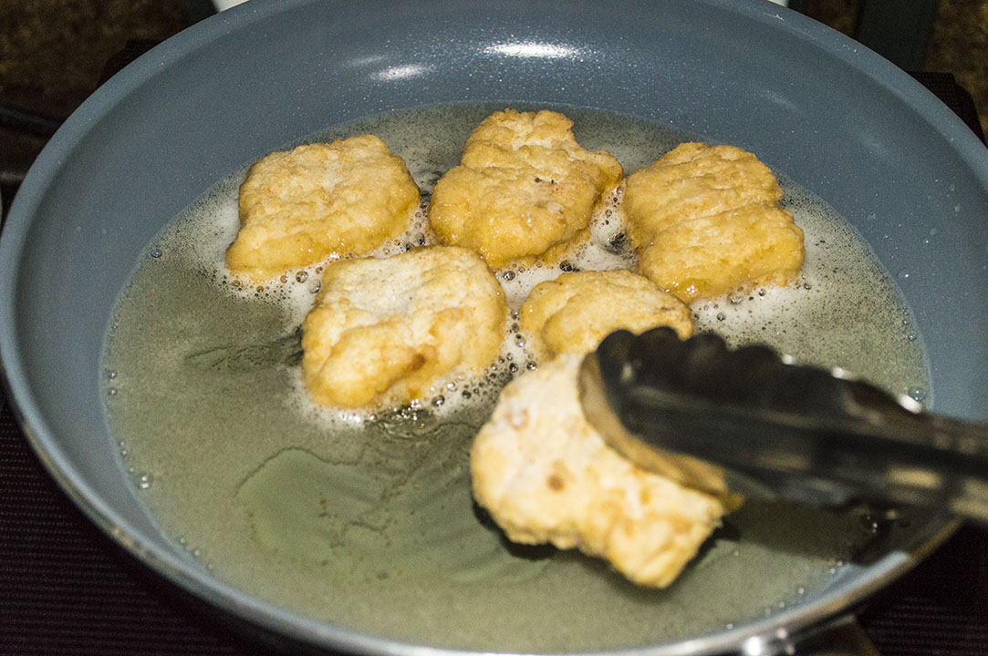 Frying the CNNph Chicken Breast Nuggets